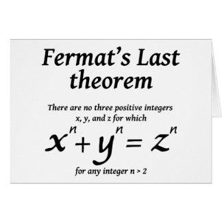 Fermat's Last Theorem Card