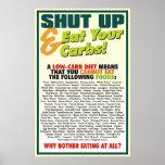 Fermez et mangez votre affiche #1 de glucides