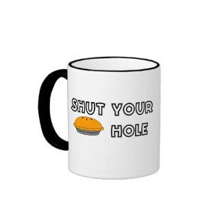Fermez votre tasse de trou de tarte