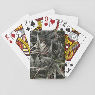 Fern Art Copper playing card