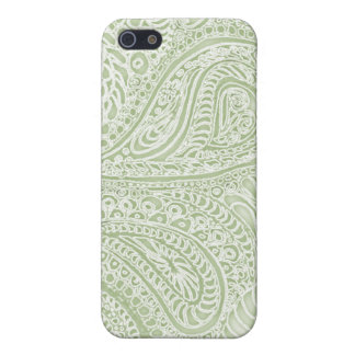 Fern batik paisley iphone case pale green iPhone 5 cases