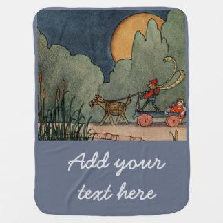 Fern Bisel Peat vintage illustration for Jiji Lou Baby Blankets