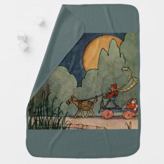 Fern Bisel Peat vintage illustration for Jiji Lou Receiving Blanket
