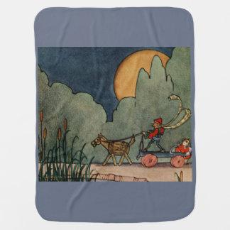 Fern Bisel Peat vintage illustration for Jiji Lou Swaddle Blanket