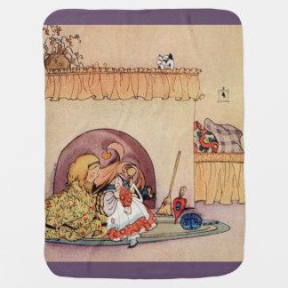 Fern Bisel Peat vintage Jiji Lou illustration Baby Blanket