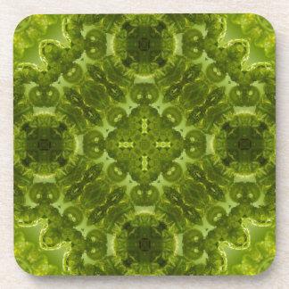 Fern Forest Kaleidoscope Pattern Coaster