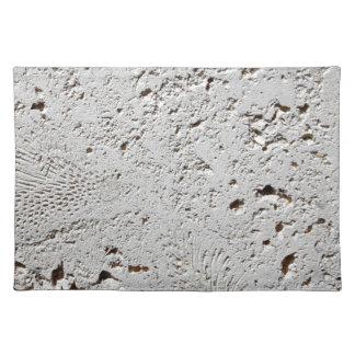 Fern Fossil Tile Surface Closeup Placemat