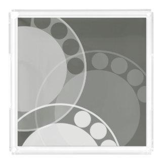 Fern Frond Design - Dark Green - Tray