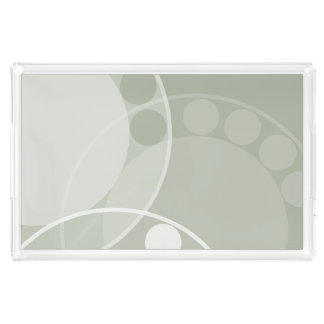 Fern Frond Design - Light Green - Tray