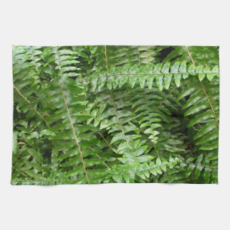 Fern Fronds I Green Nature Kitchen Towel