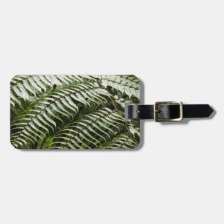 Fern Fronds II Dark Green Nature Luggage Tag