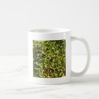 Fern Green Abstract Low Polygon Background Coffee Mug