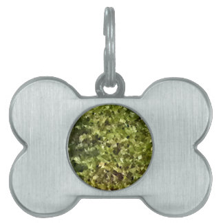 Fern Green Abstract Low Polygon Background Pet ID Tags