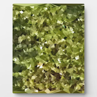 Fern Green Abstract Low Polygon Background Plaque