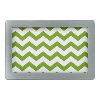 Fern Green and White Chevrons Belt Buckles