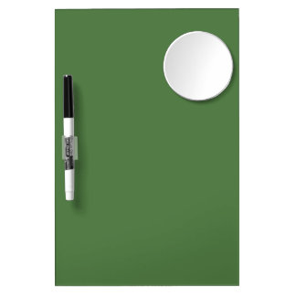 Fern Green High End Matching Color Dry Erase Board With Mirror