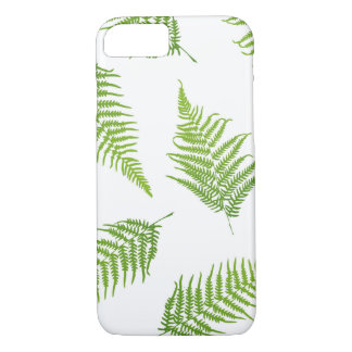 Fern green leaf silhouette pattern Case-Mate iPhone case
