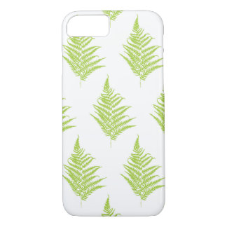 Fern green leaf silhouette pattern iPhone 8/7 case