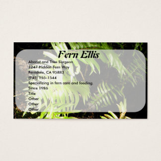 Fern in the Woods Business Card