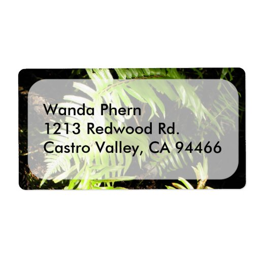 Fern in the Woods Custom Shipping Label
