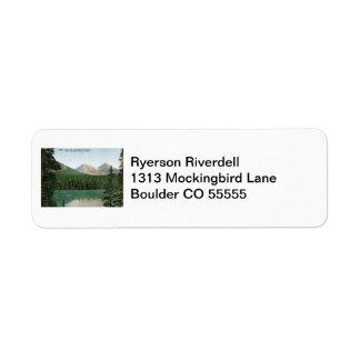 Fern Lake, Estes Park, Colorado Vintage Return Address Label