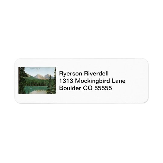 Fern Lake, Estes Park, Colorado Vintage Return Address Label