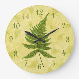 Fern Large Clock