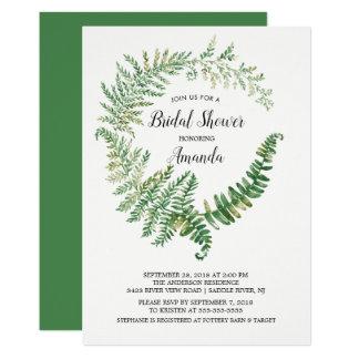 Fern Leaf Bridal Shower Invitation