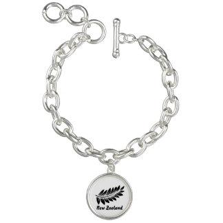 Fern leaf charm bracelets