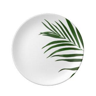 Fern Leaf Decorative Porcelain Plate