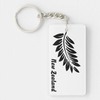 Fern leaf Double-Sided rectangular acrylic keychain