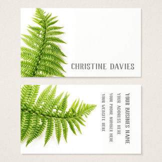 Fern leaf, exotic plant, floral business card