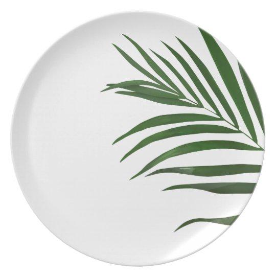 Fern Leaf Melamine Plate