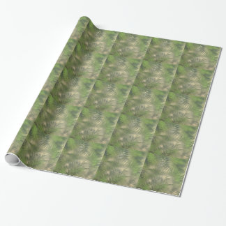 Fern Leaf Nature Outdoors Pattern Green Wrapping Paper