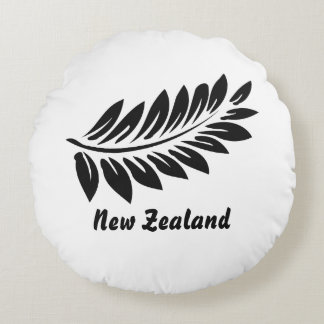 Fern leaf round pillow