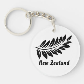 Fern leaf Single-Sided round acrylic keychain