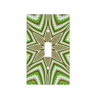 Fern Leaf Star Fractal Light Switch Cover