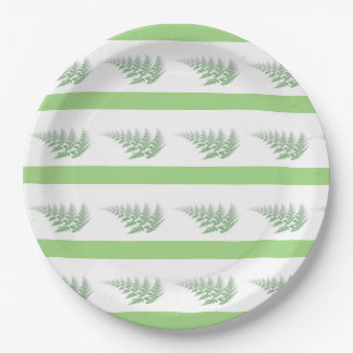 fern leaves paper plate