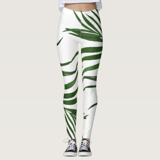 Fern Leaves Tropical Leggings