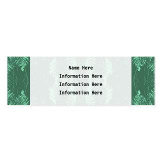 Fern Pattern in Green. Mini Business Card