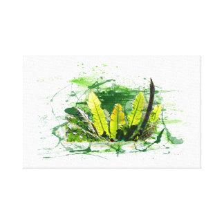 Fern, sheets, jungle, landscape, nature canvas print