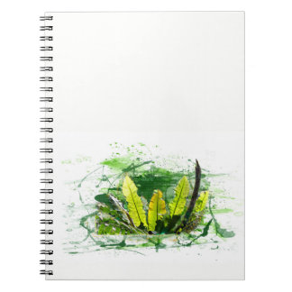 Fern, sheets, jungle, landscape, nature notebook