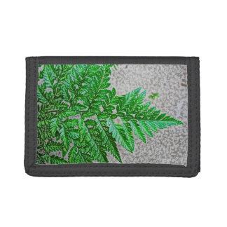 fern sideways sketch plant trifold wallet