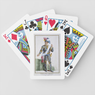 Fernand Cortez (1485-1547), engraved by Pierre Duf Bicycle Poker Deck