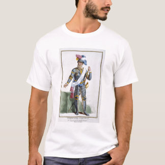 Fernand Cortez (1485-1547), engraved by Pierre Duf T-Shirt
