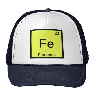 Fernanda Name Chemistry Element Periodic Table Mesh Hat