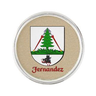 Fernandez Historical Shield Lapel Pin