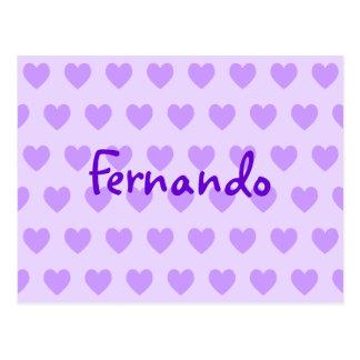Fernando in Purple Postcard