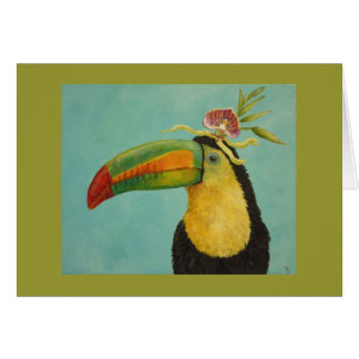 Fernando the toucan greeting card