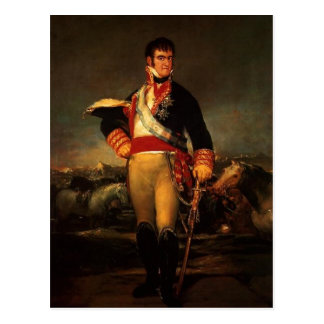 Fernando VII of Spain, by Francisco de Goya , 1814 Postcard